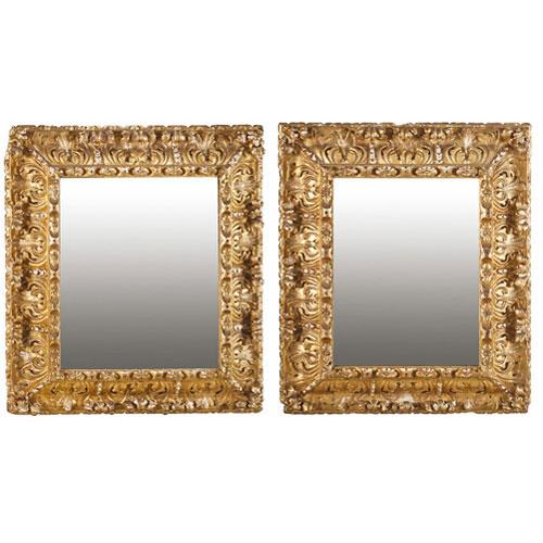 Abalarte subastas pareja de marcos con espejo de estilo - Espejos estilo barroco ...