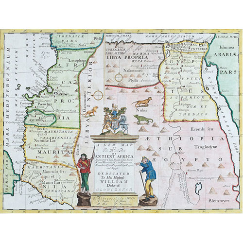 Sub.:1 - Lote: 5 - EDWARD WELLS.  A New Map of the North Part of Antient Africa.