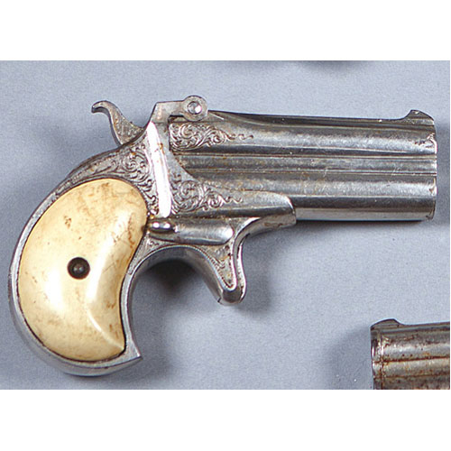 ABALARTE AUCTIONS - Double-barreled Derringer pistol manufactured by