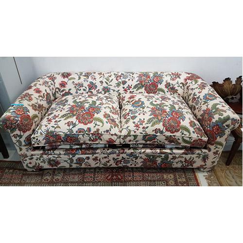 ABALARTE SUBASTAS - Sofá cama de dos plazas con estampado floral ...