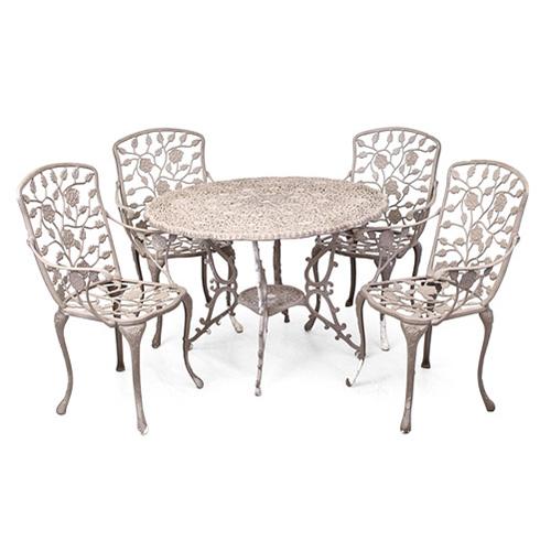 ABALARTE SUBASTAS - Conjunto de jardín formado por cuatro sillones y ...