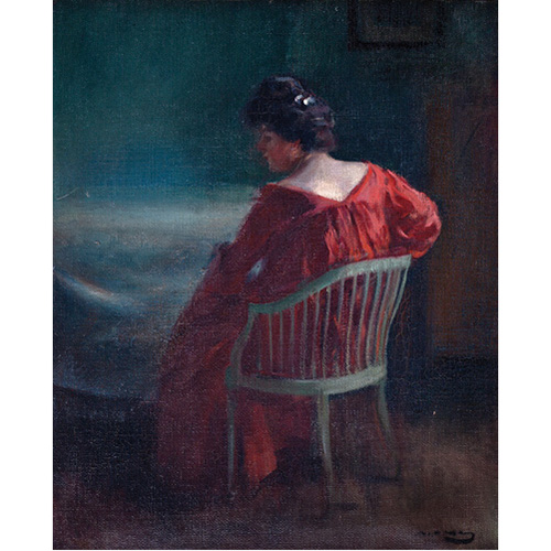 Abalarte subastas ram n casas i carb barcelona 1866 1932 la mujer de rojo - Casas de subastas en barcelona ...