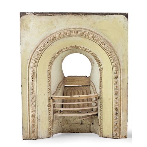 Abalarte subastas embocadura para chimenea en hierro policromado objetos varios - Embocadura chimenea ...