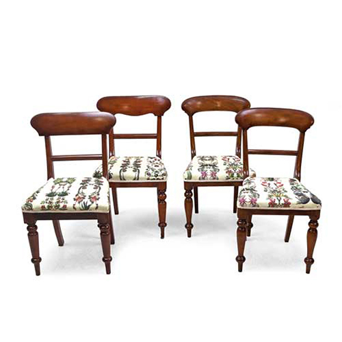ABALARTE SUBASTAS - Conjunto de cuatro sillas de estilo victoriano ...