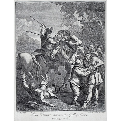Sub.:24 - Lote: 33 - WILLIAM HOGARTH (Londres, 1697-1764) Don Quijote