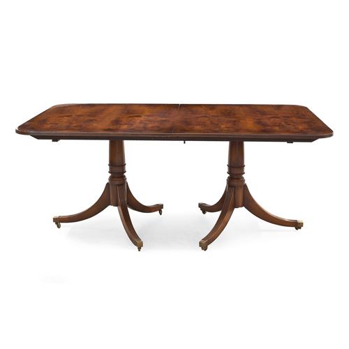 ABALARTE SUBASTAS - Mesa de comedor estilo inglés en madera de raíz ...