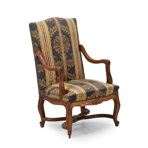 Abalarte subastas butaca estilo luis xiv en madera for Estilo luis xiv muebles
