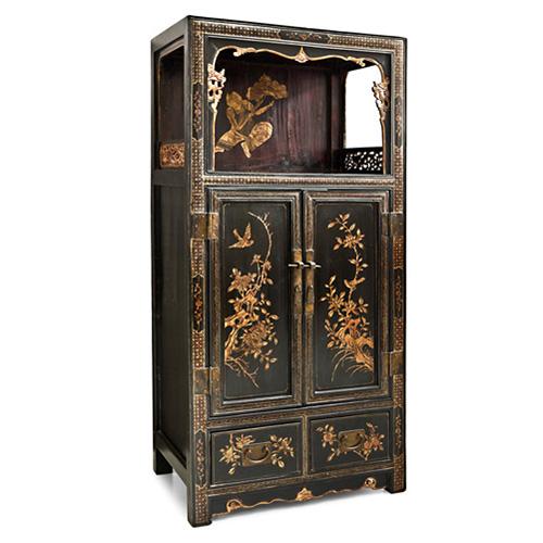Abalarte subastas mueble chino antiguo en madera lacada - Mueble chino antiguo ...