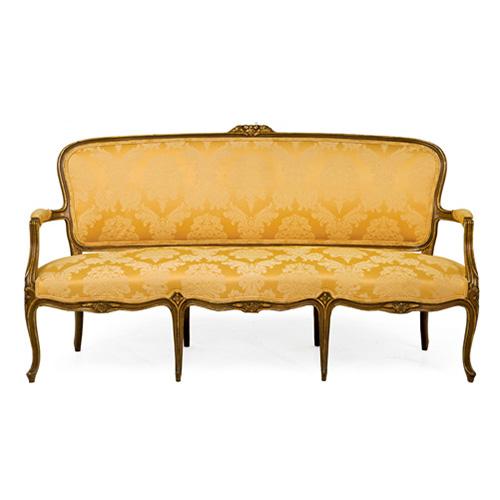 Abalarte subastas tresillo estilo luis xv formado por for Subastas muebles madrid