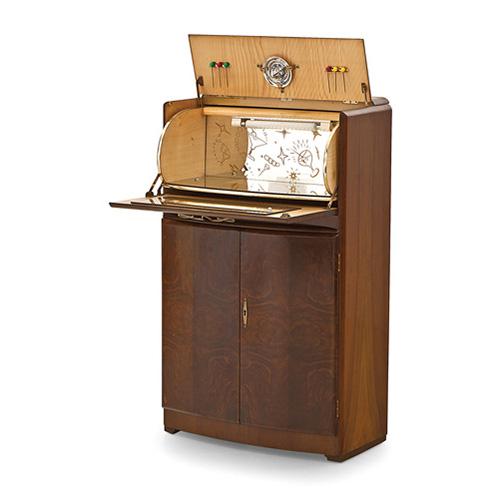 Abalarte subastas mueble bar rivington estilo art dec en for Mueble bar madera